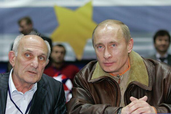 Anatoly Rakhlin and Vladimir Putin (archive) - Sputnik International