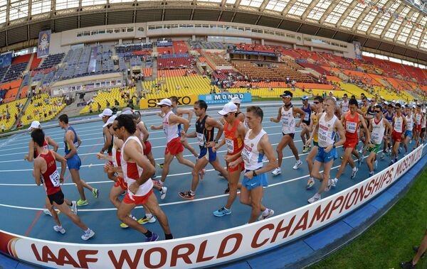 World Athletic Stars Compete in Half Empty Stadium in Moscow - Sputnik International
