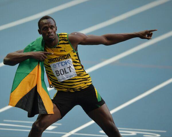 Bolt Wins Third Straight World 200m Gold - Sputnik International