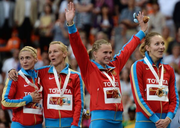 Russia's 4x400m relay team - Sputnik International