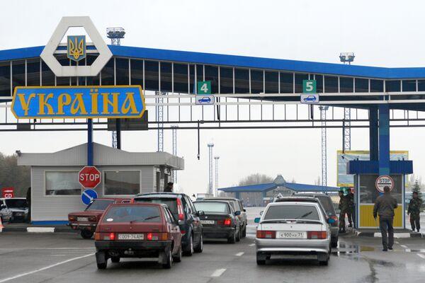 Сar border crossing on the Ukrainian-Russian border (Archive) - Sputnik International