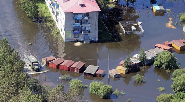 Over 50,000 Now Affected by Floods in Russia's Far East - Sputnik International