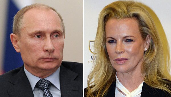 Russian President Vladimir Putin and US actress Kim Basinger - Sputnik International