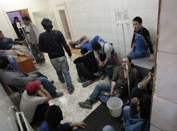 Construction workers hospitalized with food poisoning, Botkin Clinical Infectious Diseases Hospital, August 26, 2013 - Sputnik International