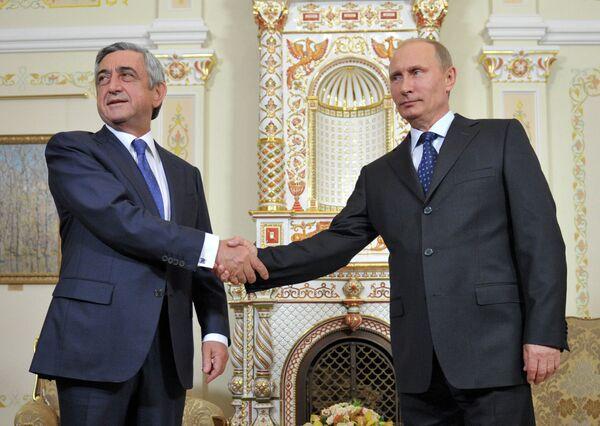 Serzh Sargsyan and Vladimir Putin - Sputnik International