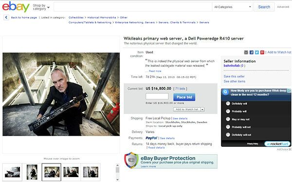 For sale on eBay: Wikileaks primary web server, a Dell Poweredge R410 server -- The notorious physical server that changed the world. - Sputnik International