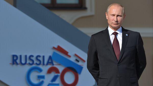 Церемония встречи В. Путиным участников саммита Группы двадцати - Sputnik International