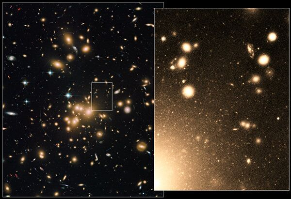 Peering deep into the heart of the massive galaxy cluster Abell 1689, NASA's Hubble Space Telescope has nabbed photos of more than 160,000 star clusters, the largest population ever seen. - Sputnik International