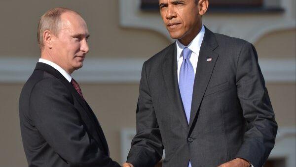 Russian President Vladimir Putin and US President Barack Obama in St. Petersburg, Russia, on September 5 - Sputnik International