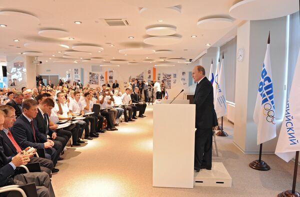 Vladimir Putin while visiting Sochi on Monday at the opening of a new $500 million Olympic university - Sputnik International