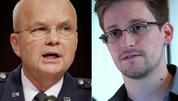 Former head of the US National Security Agency (NSA) and Central Intelligence Agency (CIA), Gen. Michael Hayden, and US intelligence leaker Edward Snowden - Sputnik International