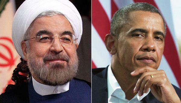 Iranian President Hassan Rouhani and US President Barack Obama - Sputnik International