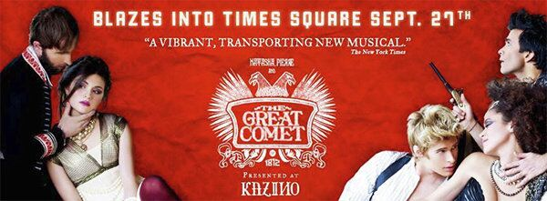 The poster for the New York play 'Natasha, Pierre and the Great Comet of 1812' - Sputnik International