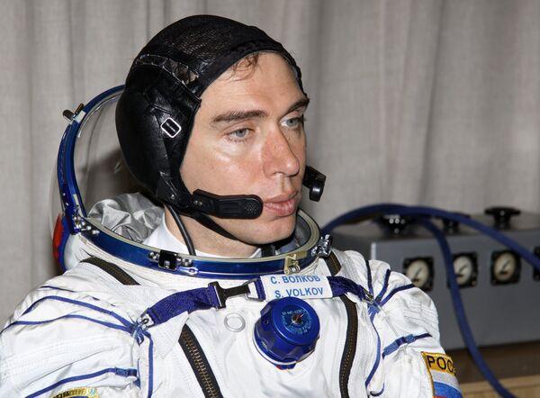Russian astronaut Sergei Volkov (archive) - Sputnik International
