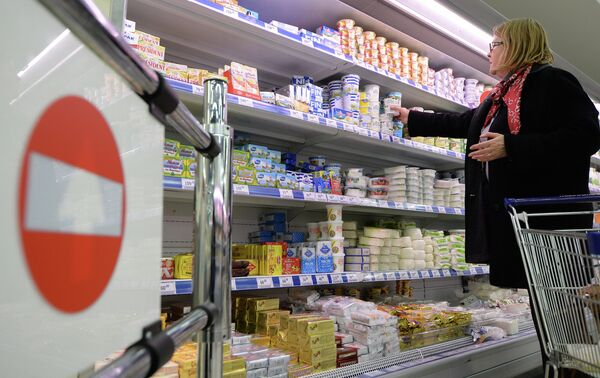 Dairy products in a supermarket in Moscow - Sputnik International