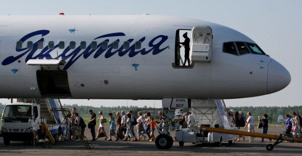 A Yakutia Airlines plane, photographed in Blagoveschensk, Russia in 2012 - Sputnik International