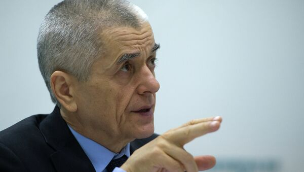 Gennady Onishchenko, head of the state consumer rights watchdog Rospotrebnadzor - Sputnik International