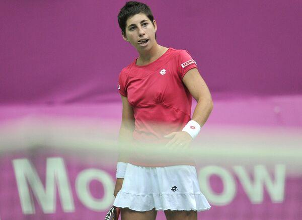 Carla Suarez Navarro playing for Spain in Fed Cup in 2012 - Sputnik International
