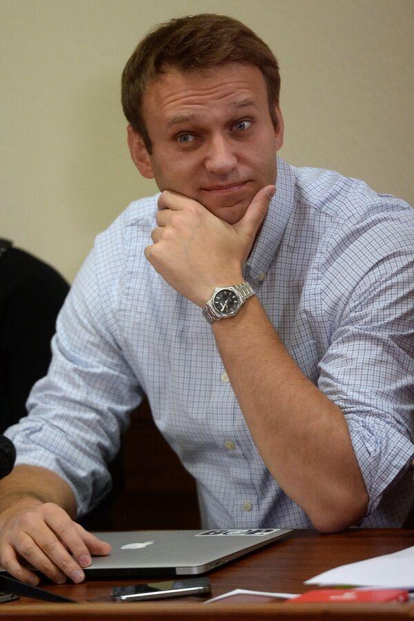 Alexei Navalny in the Kirov Region Court, Oct. 16, 2013. - Sputnik International