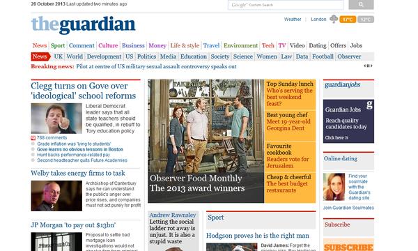 The Guardian website front page - Sputnik International