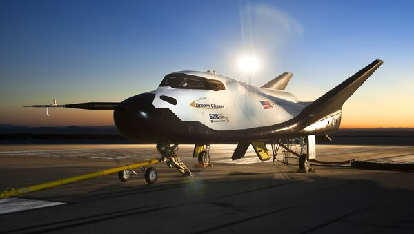 The Dream Chaser space vehicle, pictured in Edwards, California - Sputnik International