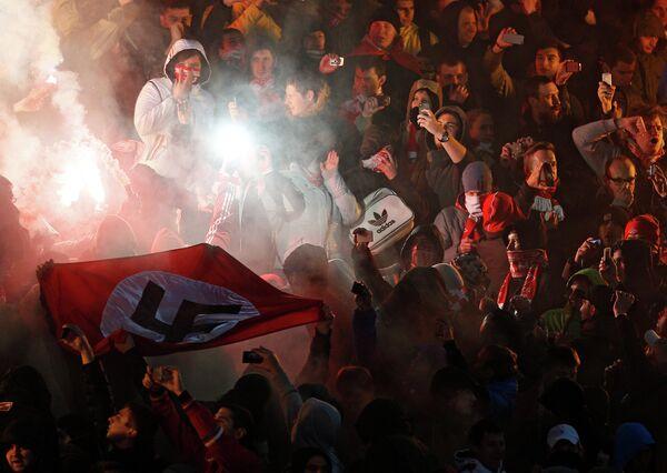 Spartak fans during the match - Sputnik International