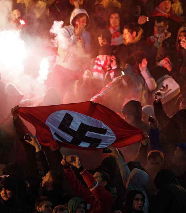 Spartak insist that supporters who waved a swastika around during the mayhem have nothing to do with the club - Sputnik International
