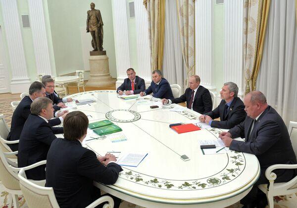 Putin's meeting with leaders of opposition parties - Sputnik International