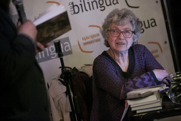 Soviet-era dissident and poet Natalya Gorbanevskaya during a May 7, 2013, poetry reading in Moscow a few weeks before her 77th birthday - Sputnik International