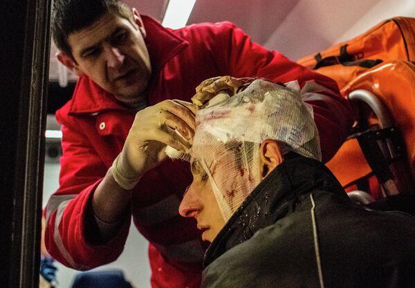 One of the injured protesters - Sputnik International