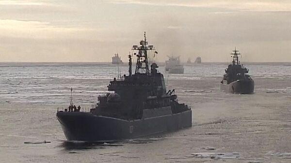 Russian ice-breakers in the Arctic - Sputnik International