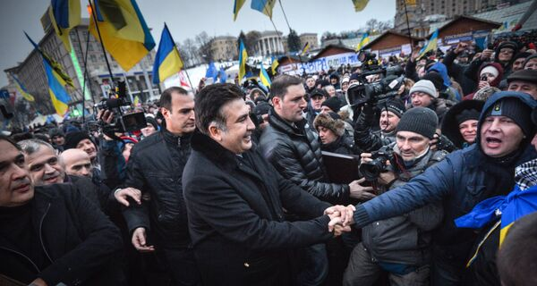 Georgia's former president Mikheil Saakashvili in Ukraine - Sputnik International