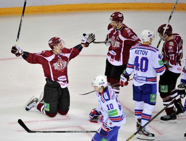 The Latvian team earned a comfortable 4-0 lead by the middle of the second period - Sputnik International