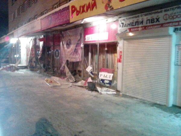 Smashed store windows in Arzamas - Sputnik International