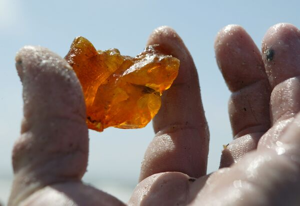 Amber is a translucent material made from fossilized resin, typically of orange or yellow hue - Sputnik International