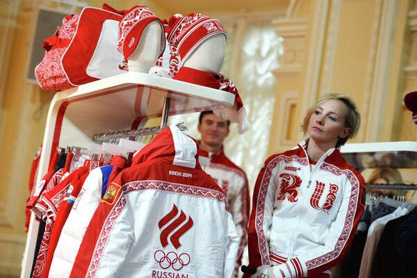 Host nation Russia unveiled its Olympic team's uniforms Thursday at a shopping center on Red Square - Sputnik International
