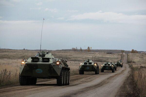 Peacekeeping military exercise of the CSTO Unbreakable Brotherhood 2013 - Sputnik International