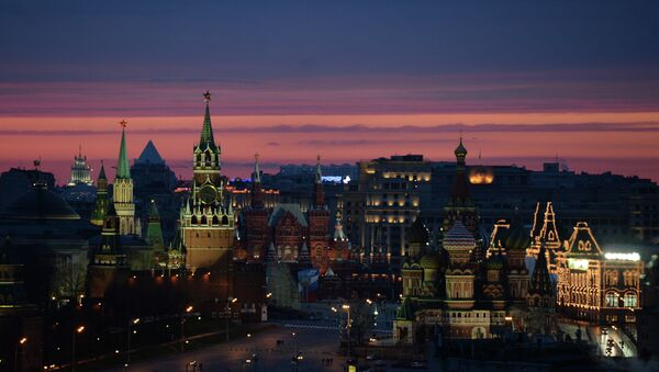 A view at the Moscow Kremlin, Historical Museum, Red Square and Saint Basil's Cathedral. - Sputnik International