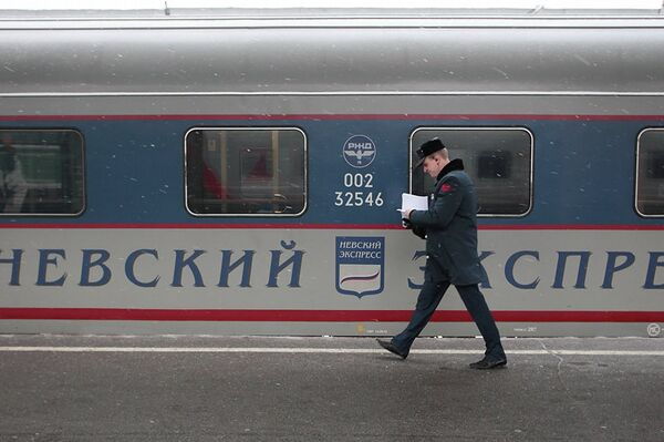 A lion cub was found on a train that had just arrived to Moscow from St. Petersburg - Sputnik International
