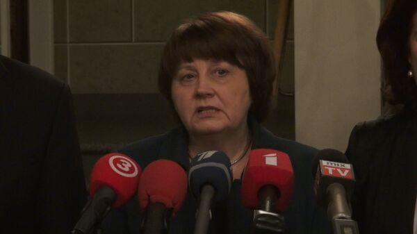 Latvian Prime Minster Laimdota Straujuma - Sputnik International