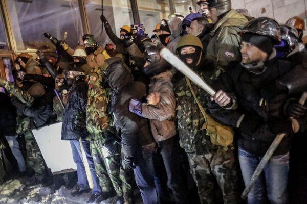 Protesters in Kiev - Sputnik International