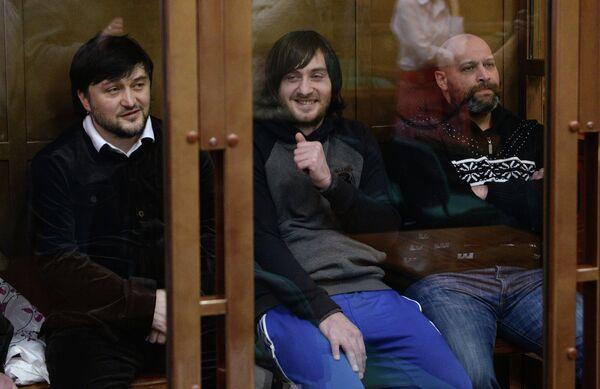 Suspects Rustam Makhmudov, Ibragim Makhmudov and Sergei Khadzhikurbanov during a court hearing in Jan 2014 - Sputnik International
