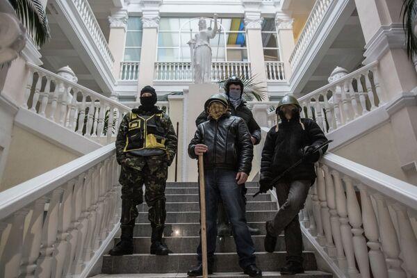 Radical Protesters Abandon Justice Ministry Building in Kiev - Sputnik International