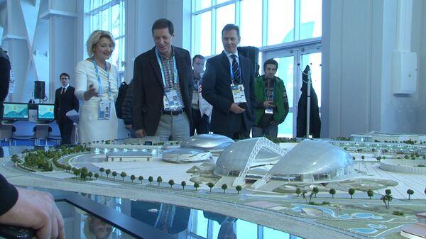 ROC President Alexander Zhukov visits the opening ceremony of the Sochi Media Center - Sputnik International