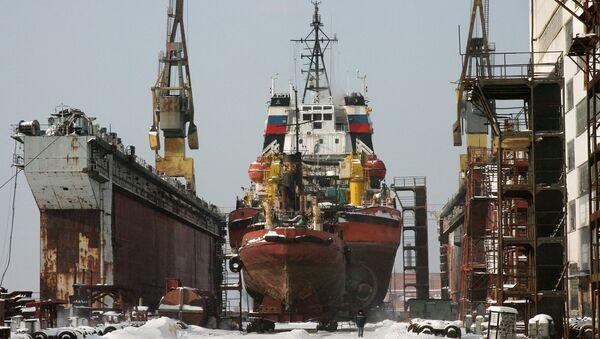 Russia's shipyard Zvezda - Sputnik International