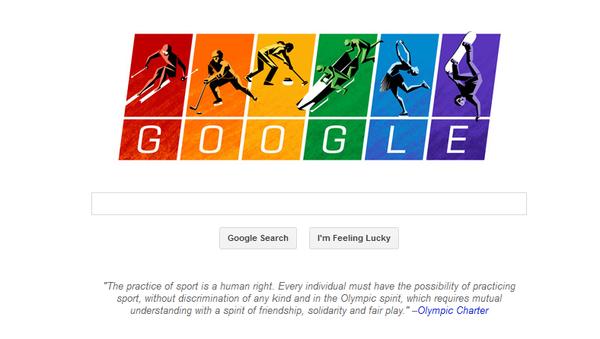 Screenshot of the Google homepage bearing the Olympic-themed doodle - Sputnik International
