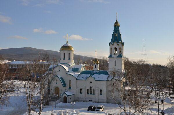Cathedral of the Resurrection in Sakhalin Island - Sputnik International