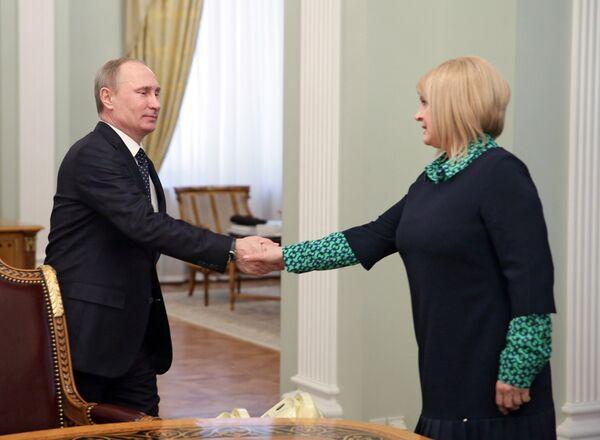 Vladimir Putin and Ella Pamfilova - Sputnik International