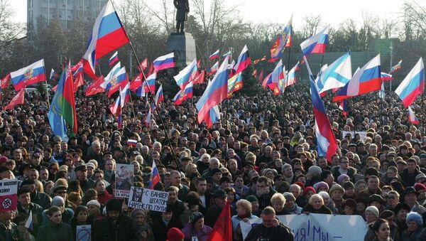 Pro-Russian rally in Sevastopol - Sputnik International