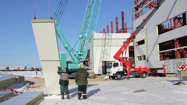 Construction work at the Vostochny space center - Sputnik International